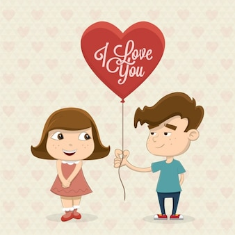 Couple in love background