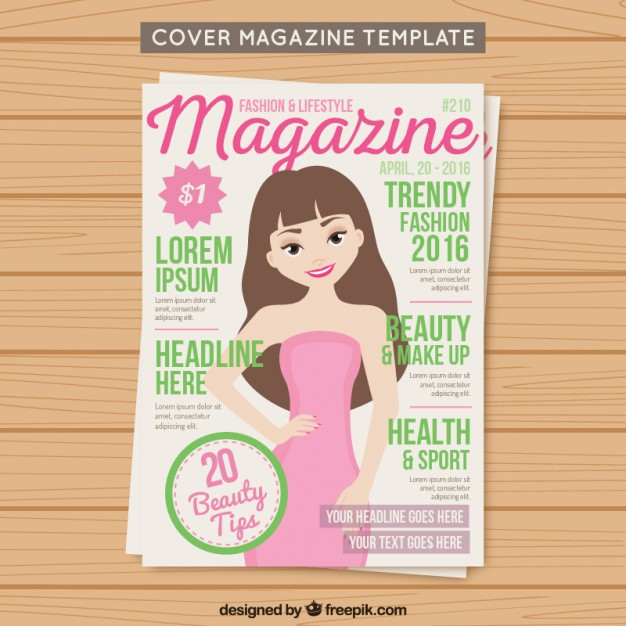 Cover fashion magazine template