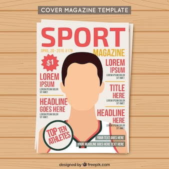 Cover sport magazine template