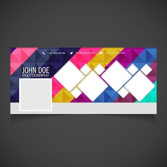 Cover with a geometric background