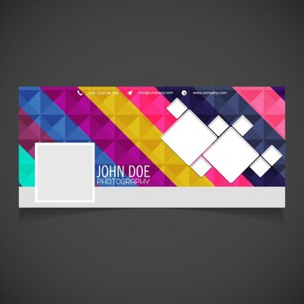 Cover with a polygonal background