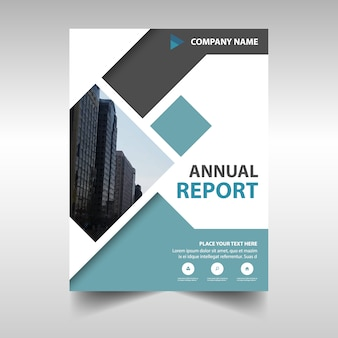 Cover with abstract shapes of annual reporting