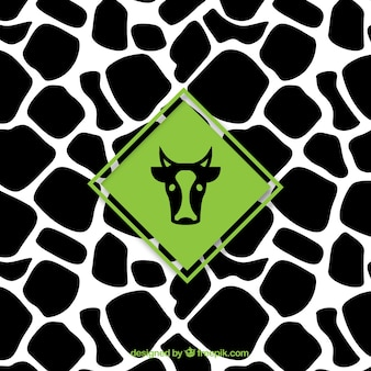 Cow pattern with label