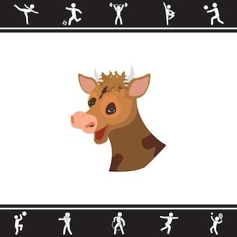 Cow. vector illustration