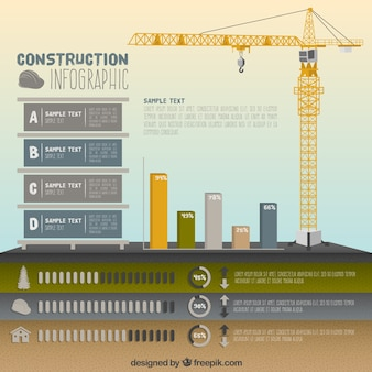 Crane with chart and building elements