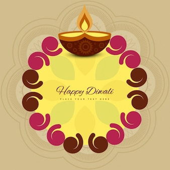 Cream Diwali background