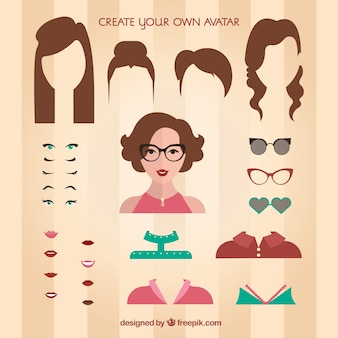 Create your own female avatar