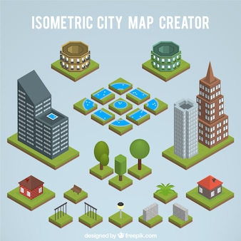 Creating an isometric city map
