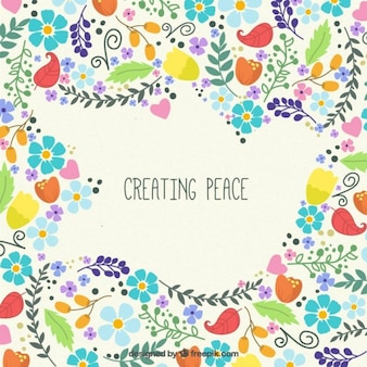 Creating peace background