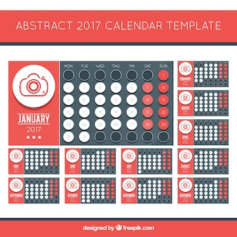 Creative 2017 calendar with photographic subject