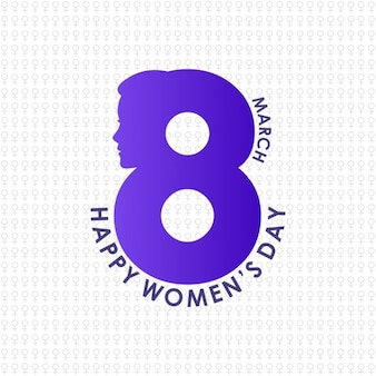 Creative 8th march women day lettering on pattern background