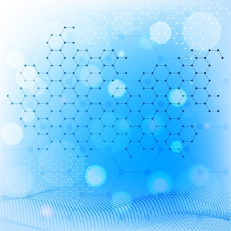 Creative abstract molecules medical background.