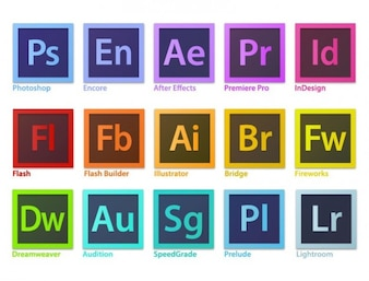 creative adobe software logo vector