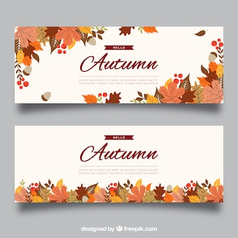 Creative autumn banner