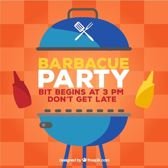 Creative bbq party template