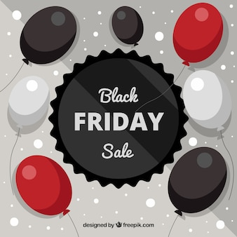 Creative black friday design with balloons