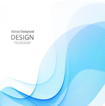 Creative blue wavy background design