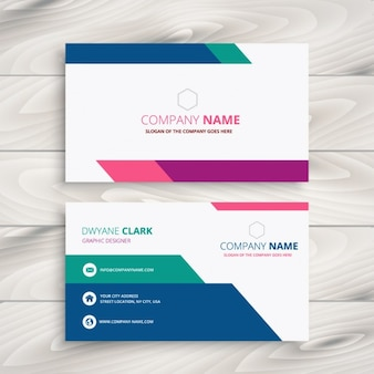 creative business card in colorful style