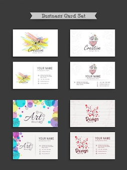 Creative business card set