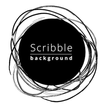 Creative circular scribble background