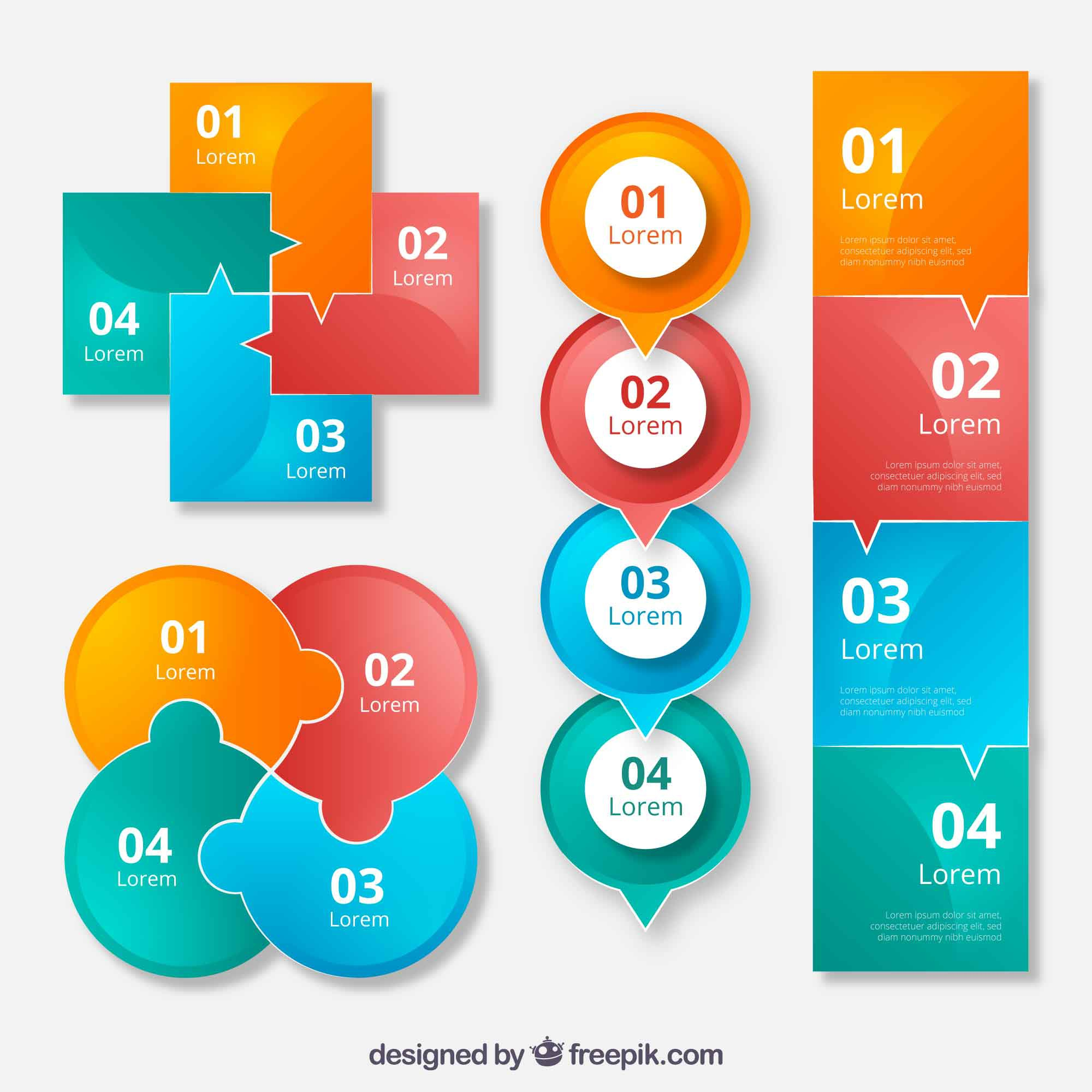 Creative collection of infographic elements