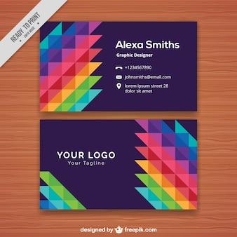 Creative colorful corporate card