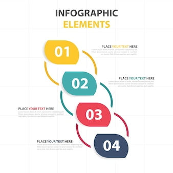 Creative colorful corporate infographic template