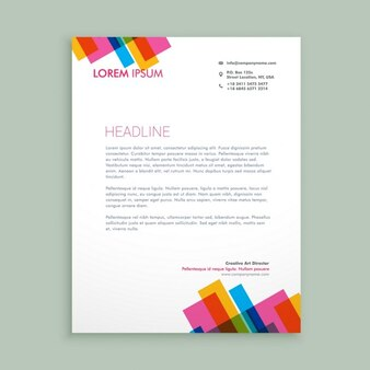 Creative colorful letterhead