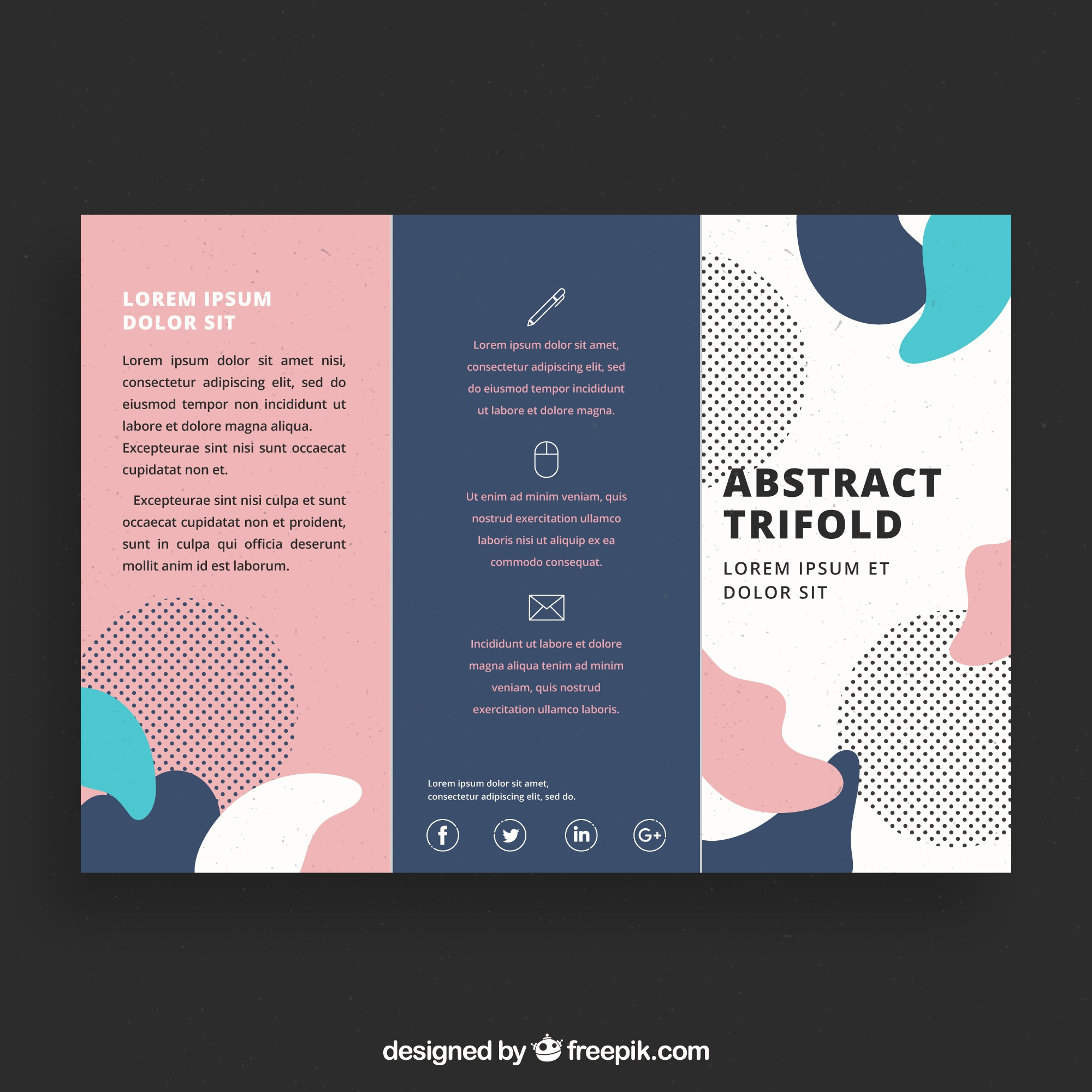 Creative colorful trifold business brochure template