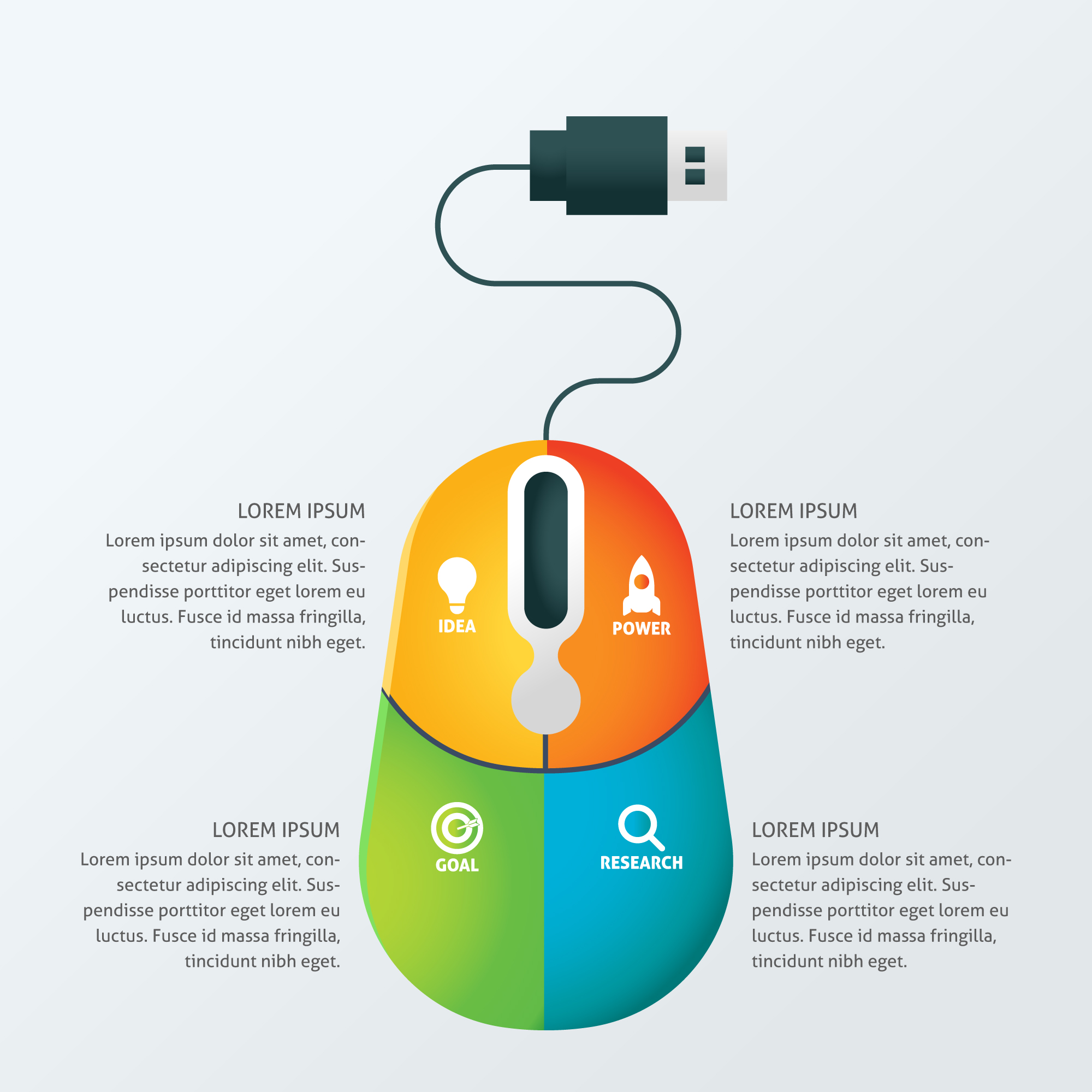 Creative Concept Business Infographic Template