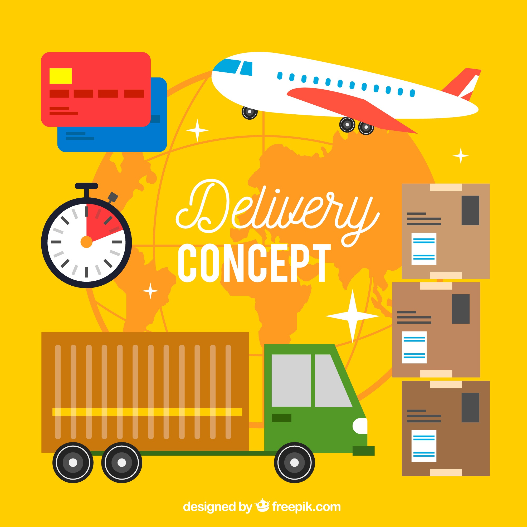 Creative delivery concept background