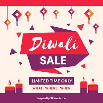 Creative diwali sale background