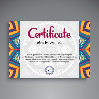 Creative ethnic diploma template