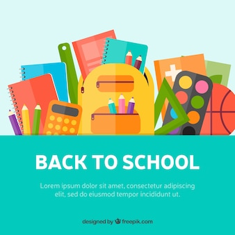 Creative flat back to school illustration