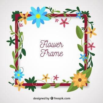 創造的な花のフレーム