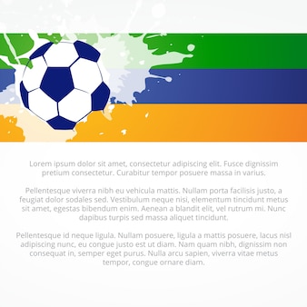 Creative football design in colors of brazil