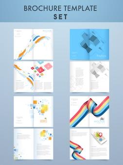 創造的な4ページパンフレットのテンプレートは、ビジネスのために設定