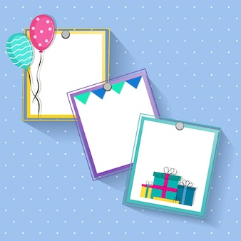 Creative frames design for Birthday and Party celebrations.