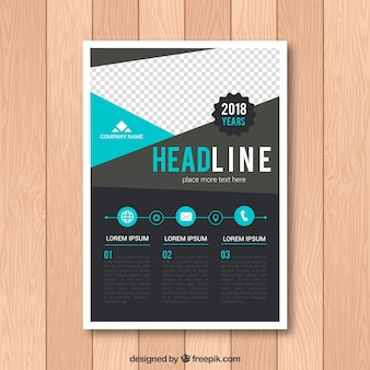 Creative geometric flyer