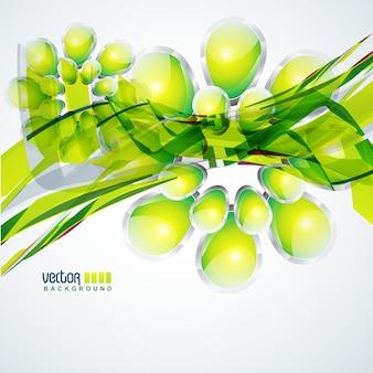 Creative green glossy background