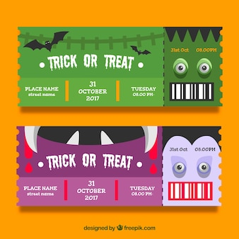 Creative halloween party tickets