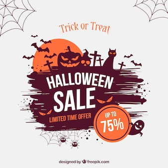 Creative halloween sale background