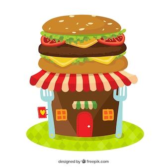 Creative hamburger facade