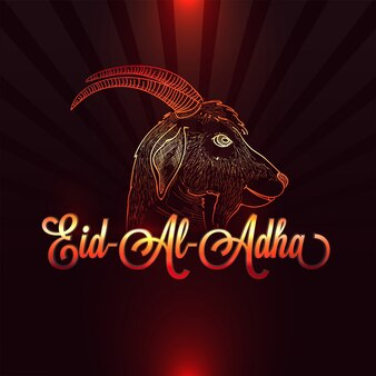 Creative illustration of goat for Eid-Al-Adha celebration.