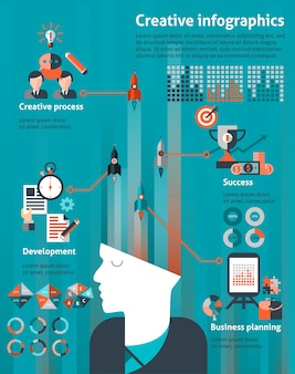 Creative infographic for business