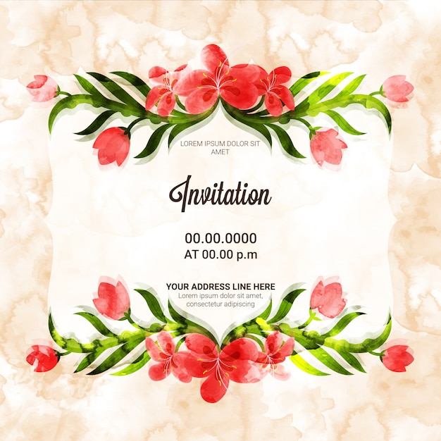 creative invitation card with beautiful flowers_1302 6525?size=338&ext=jpg birthday invitation vectors, photos and psd files free download,Invitation Cards Free Download