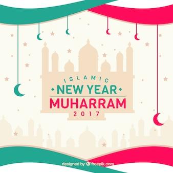 創造的なイスラムの新年の背景