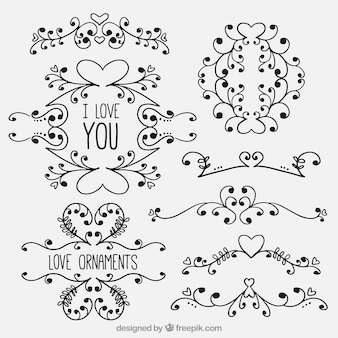 Creative love ornaments