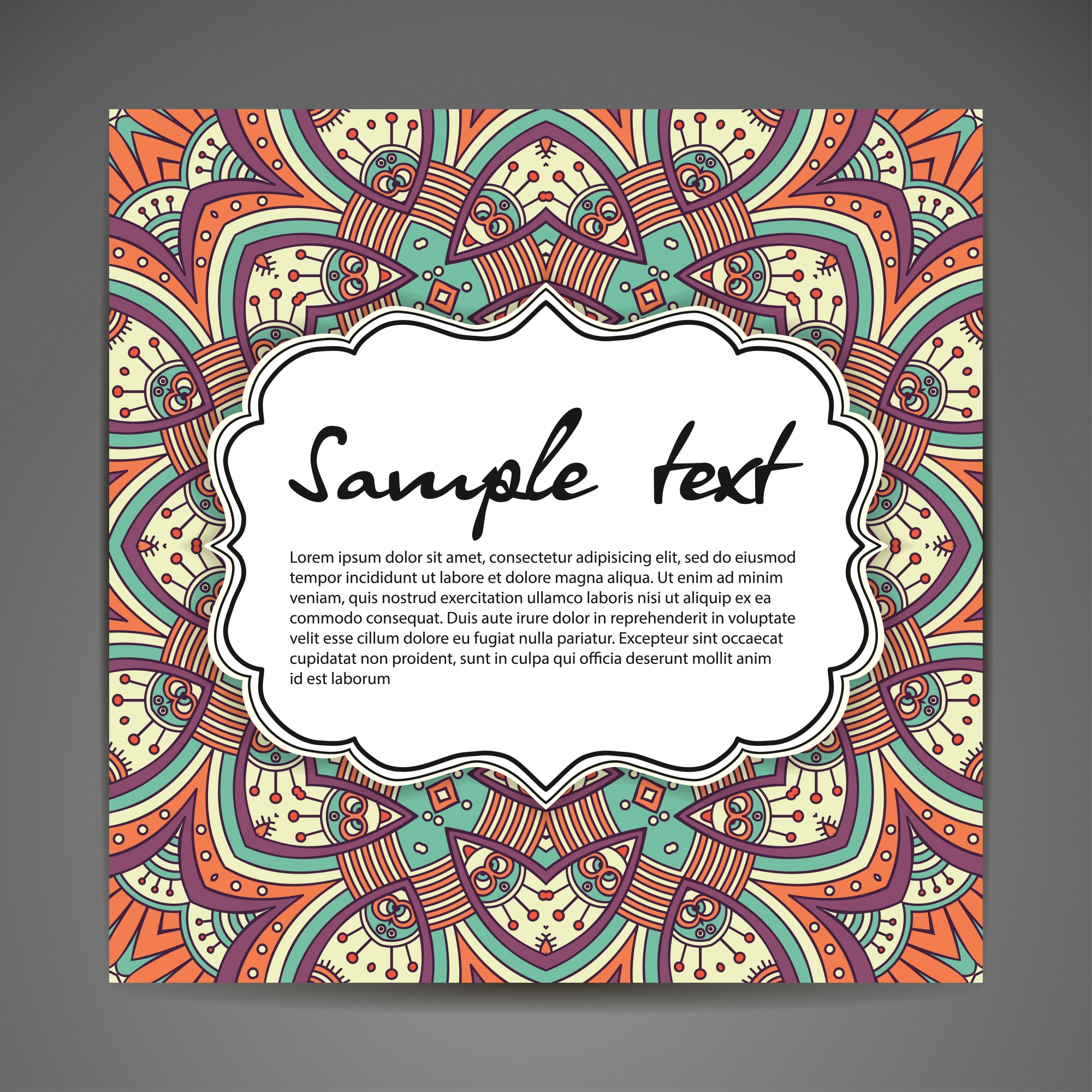 Creative mandala illustration with space for text