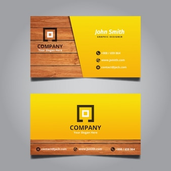 Creative Modern Wooden Business Card